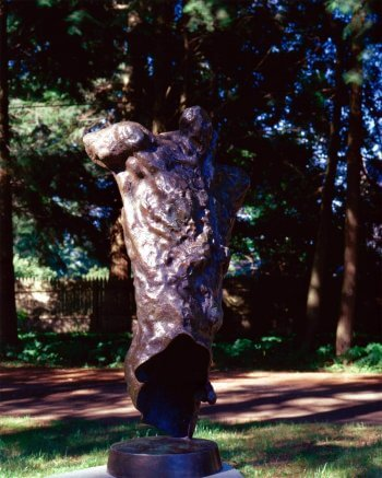 Messenger a Bronze Figurative Outdoor garden Sculpture by Andrew DeVries