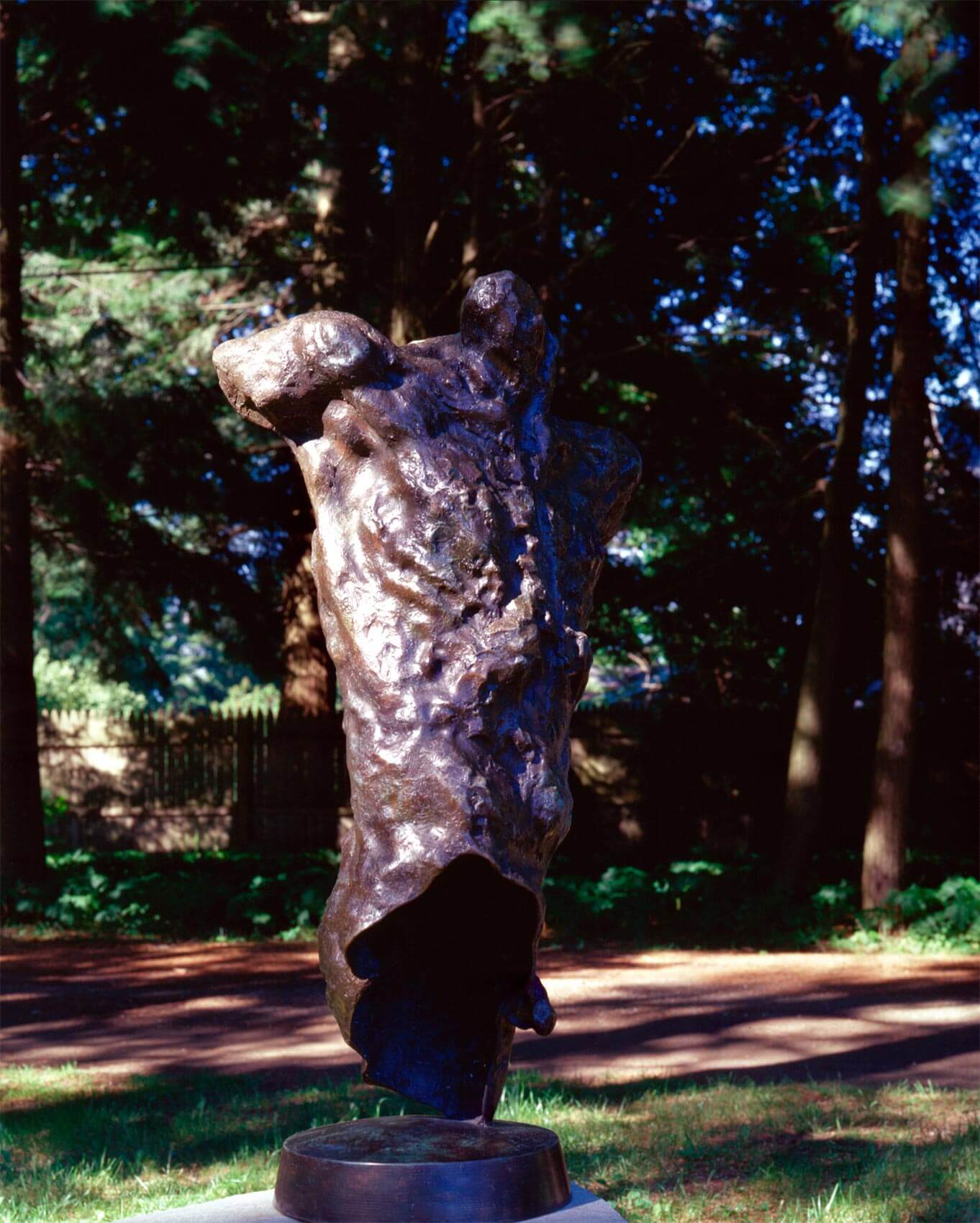 Messenger a Bronze Figurative Outdoor garden Sculpture by Andrew DeVries