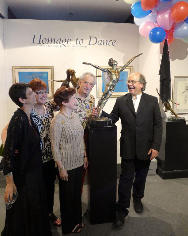 Destiny a male bronze ballet sculpture unveiled at the national Museum of dance