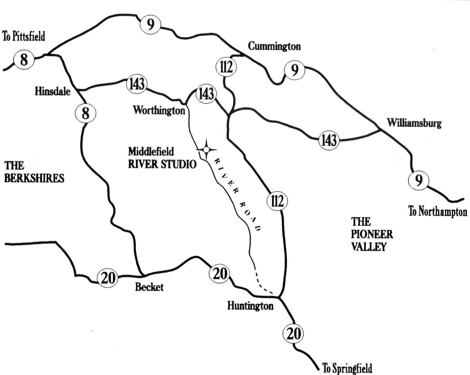 Map of River Studio location