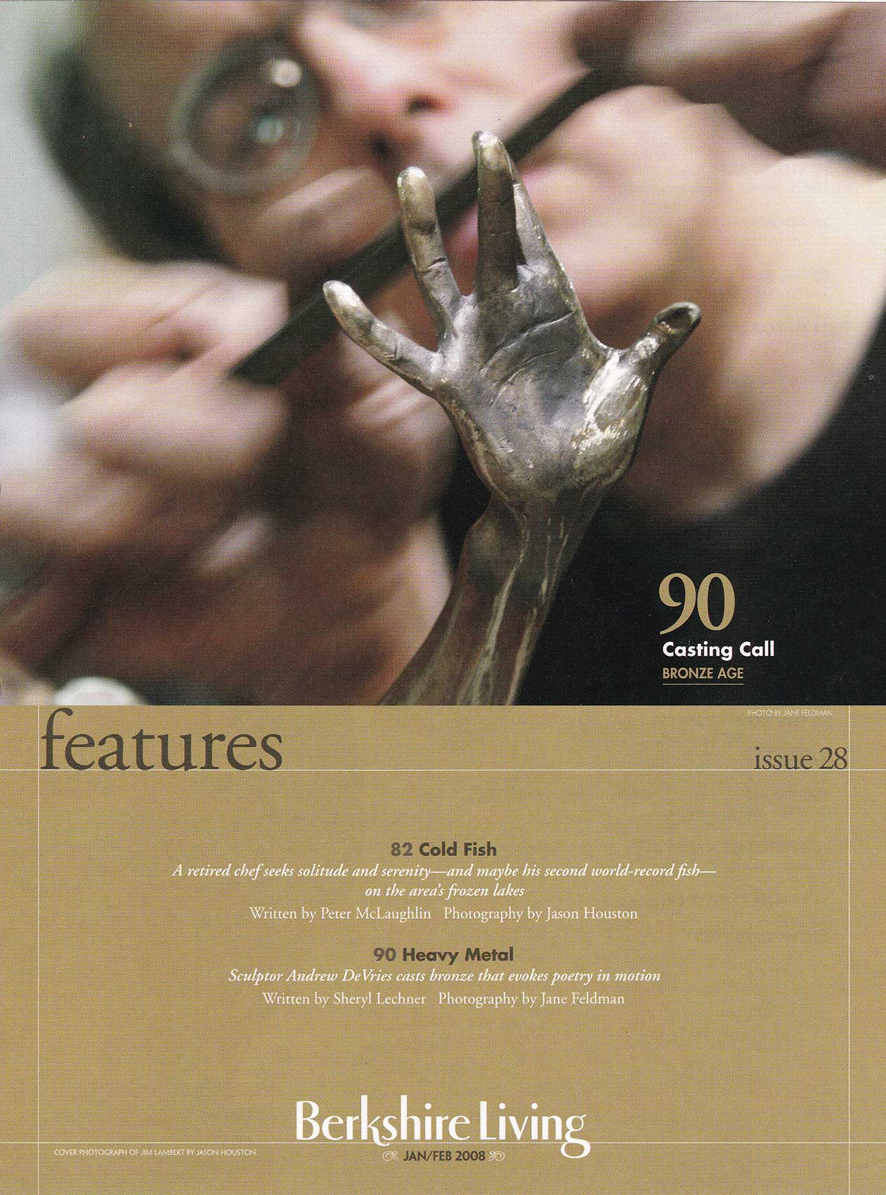 Berkshire Living Magazine January/February cover page