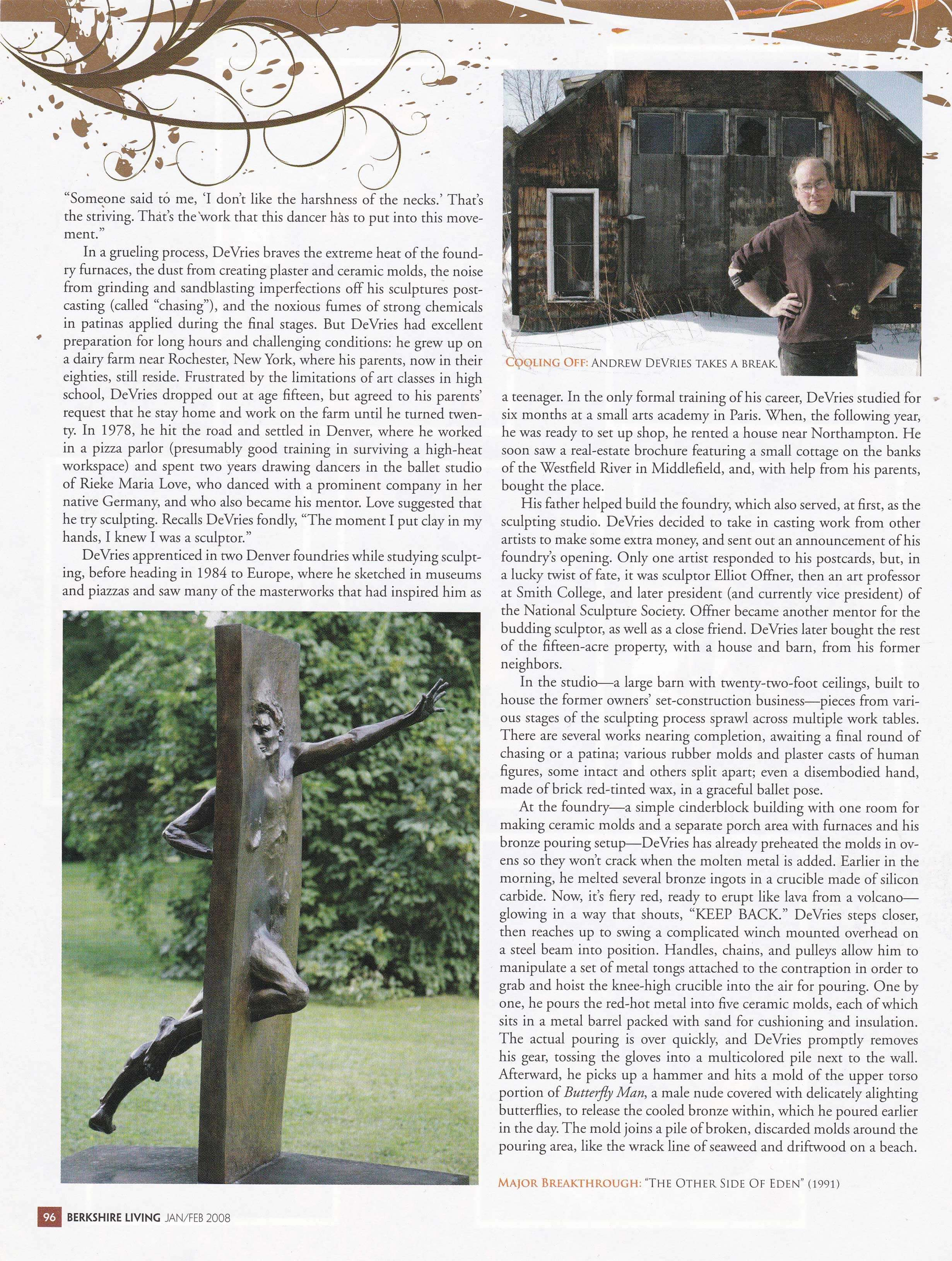 Berkshire Living Magazine January/February 2008 page 96