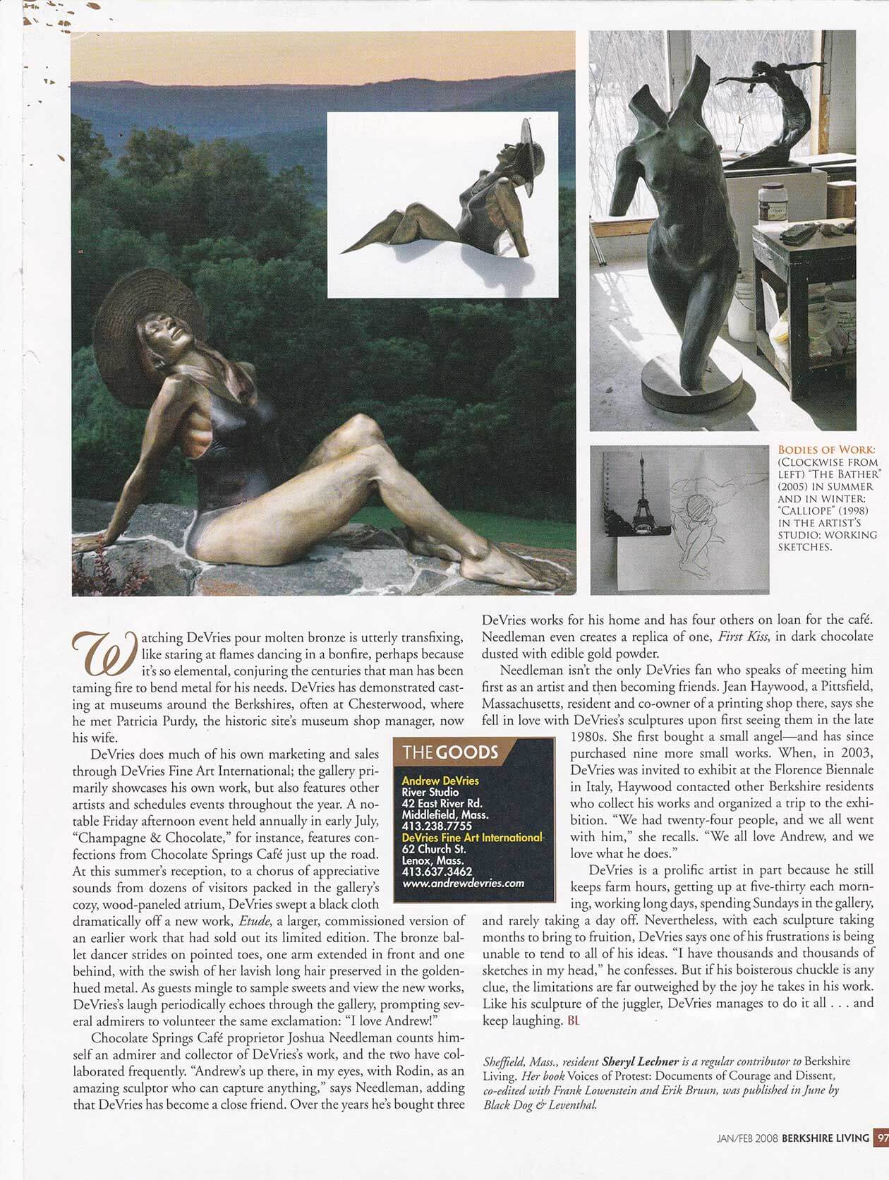 Berkshire Living Magazine January/February 2008 page 97