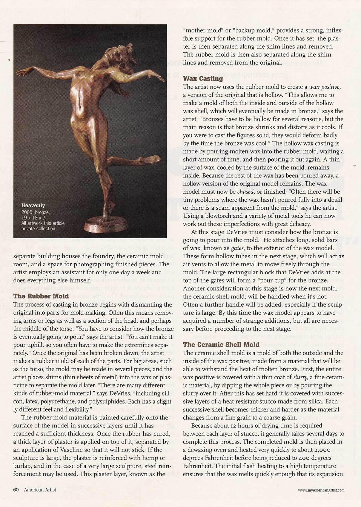 American Artist magazine December 2007page 60