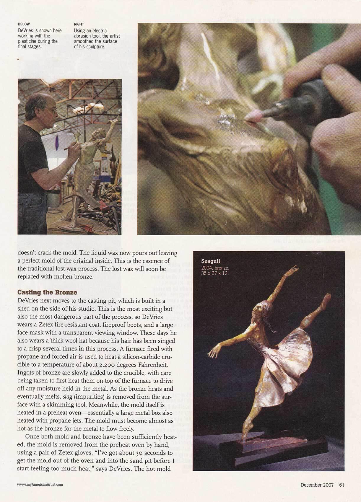 American Artist magazine December 2007page 61