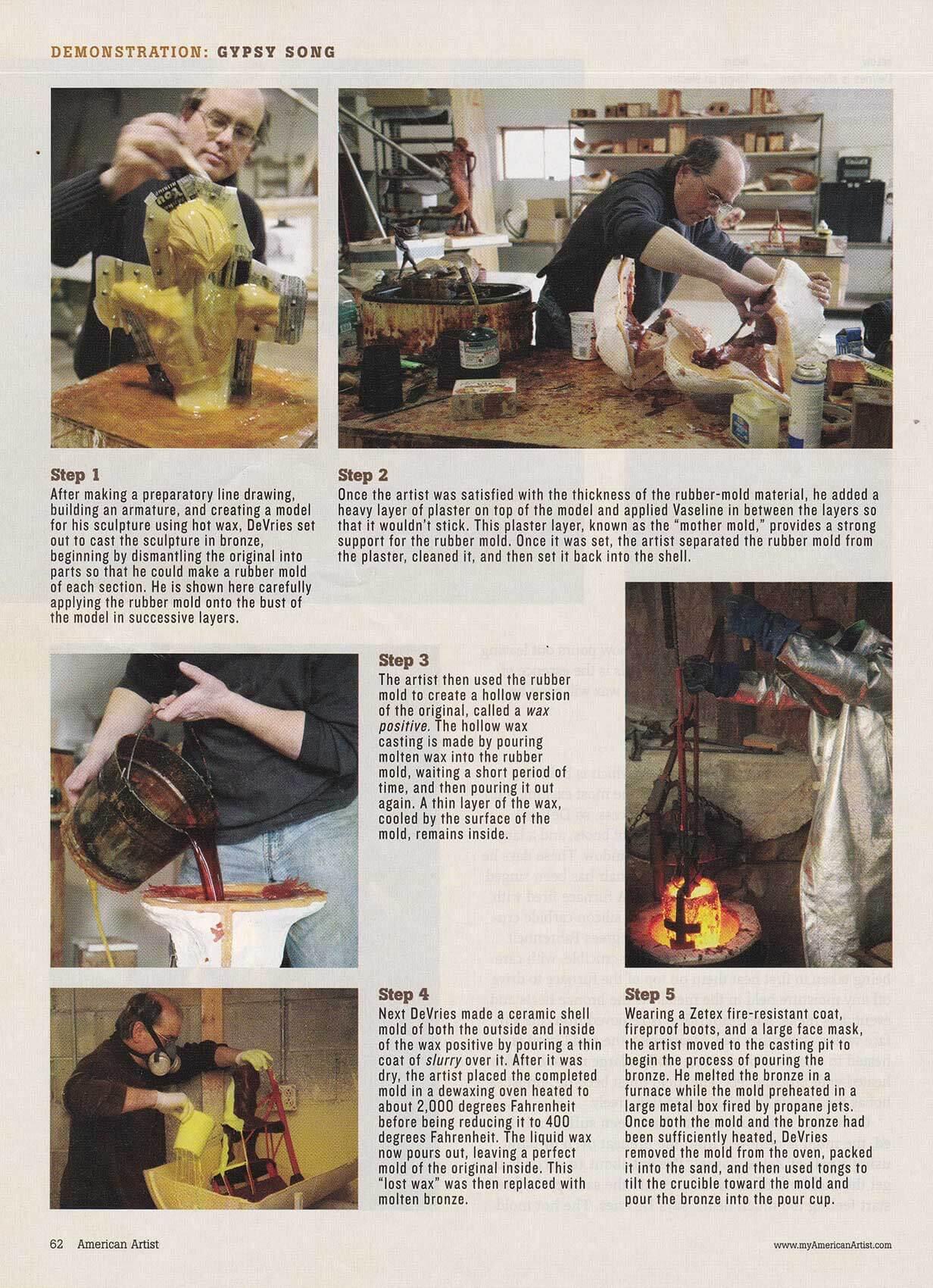 American Artist magazine December 2007page 62