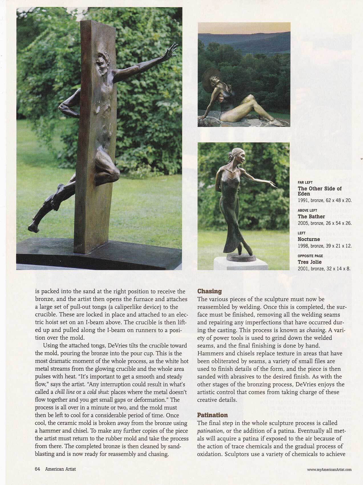 American Artist magazine December 2007page 64