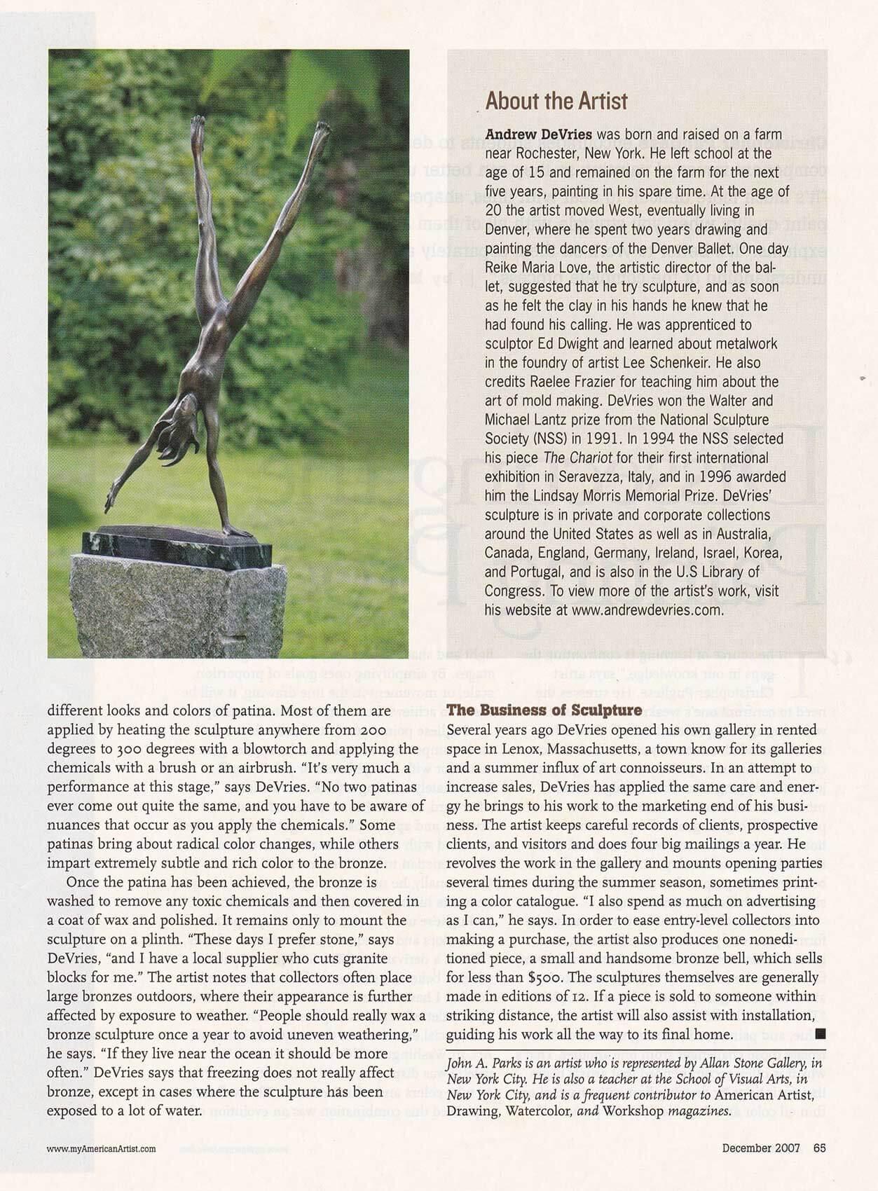 American Artist magazine December 2007page 65