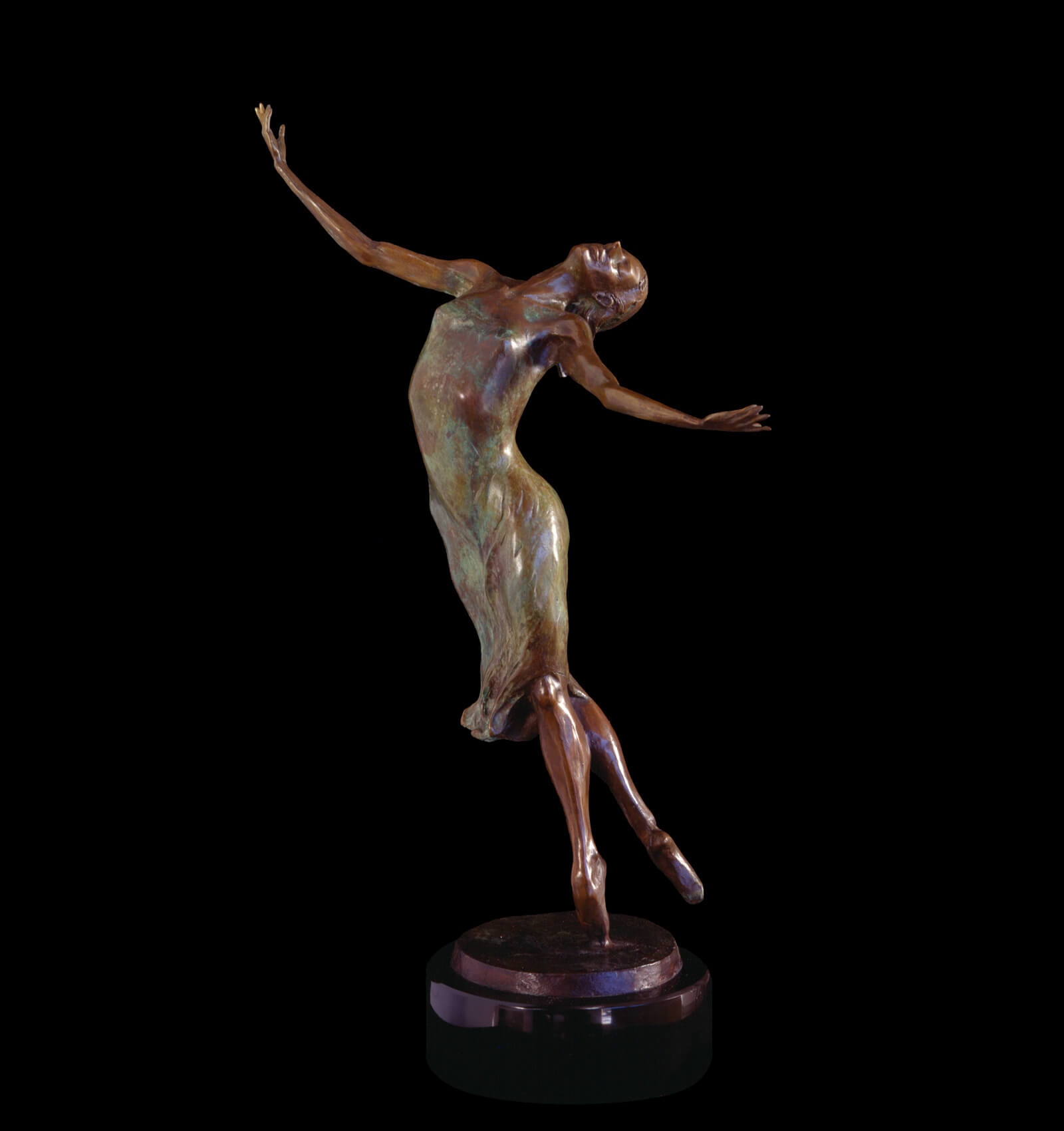 Capriccio bronze female ballet dancer by Andrew DeVries edition is closed available for commissioning larger