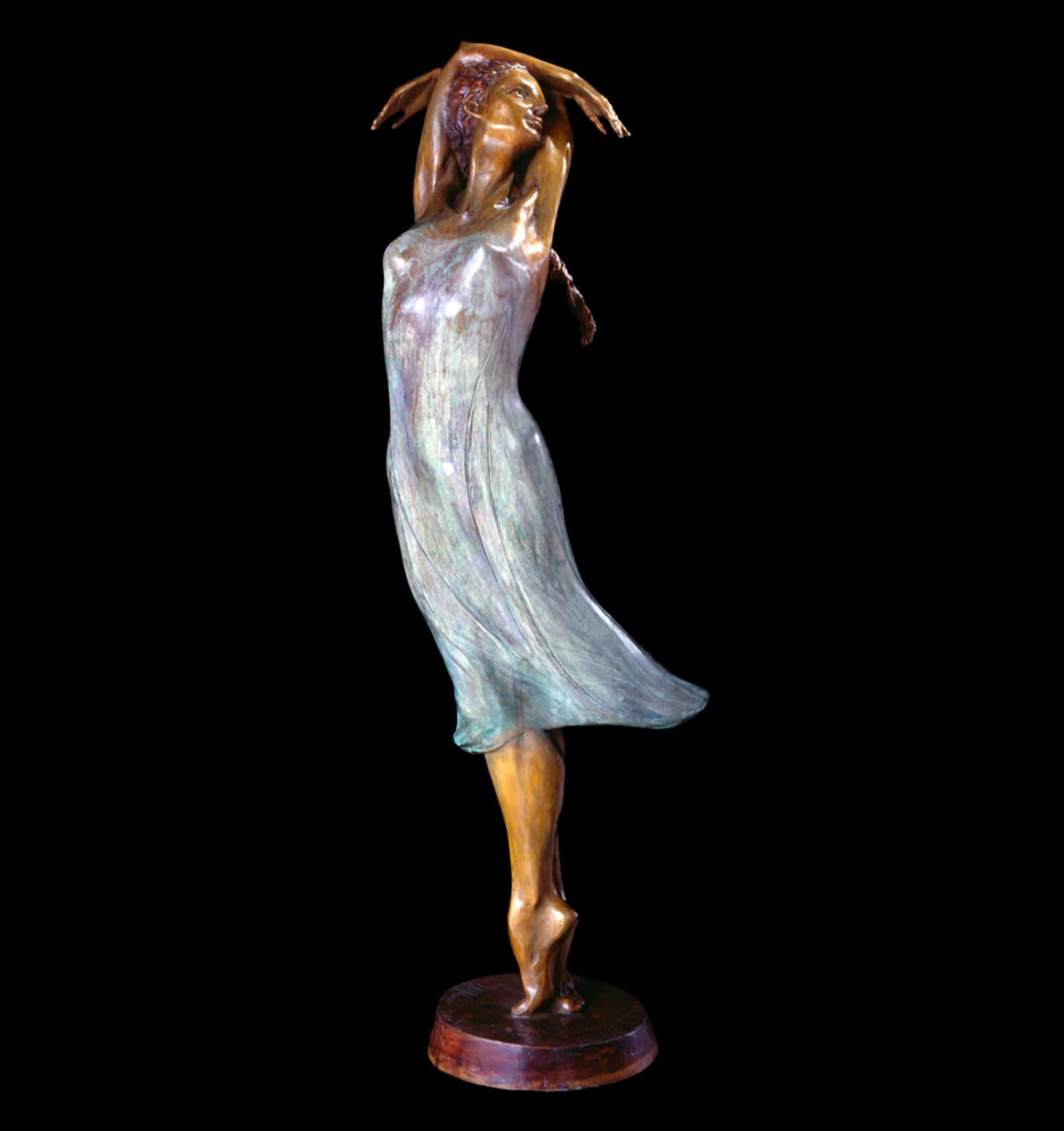 Juliet female bronze ballet dance sculpture by Andrew DeVries. Edition sold out but available to commission larger.