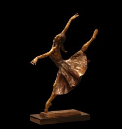Seagull a female ballet dance sculpture by Andrew DeVries copyright 2005. Edition sold out but available to commission in a larger version.