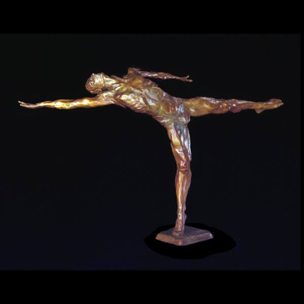 Within a bronze malenude dance sculpture by Andrew DeVries copyright 1989 edition is sold out but it is available to commission in a larger version.