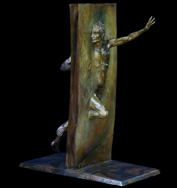 Other Side of Eden is a Other Side of Eden is figurative bronze sculpture by Andrew DeVries the edition is closed.