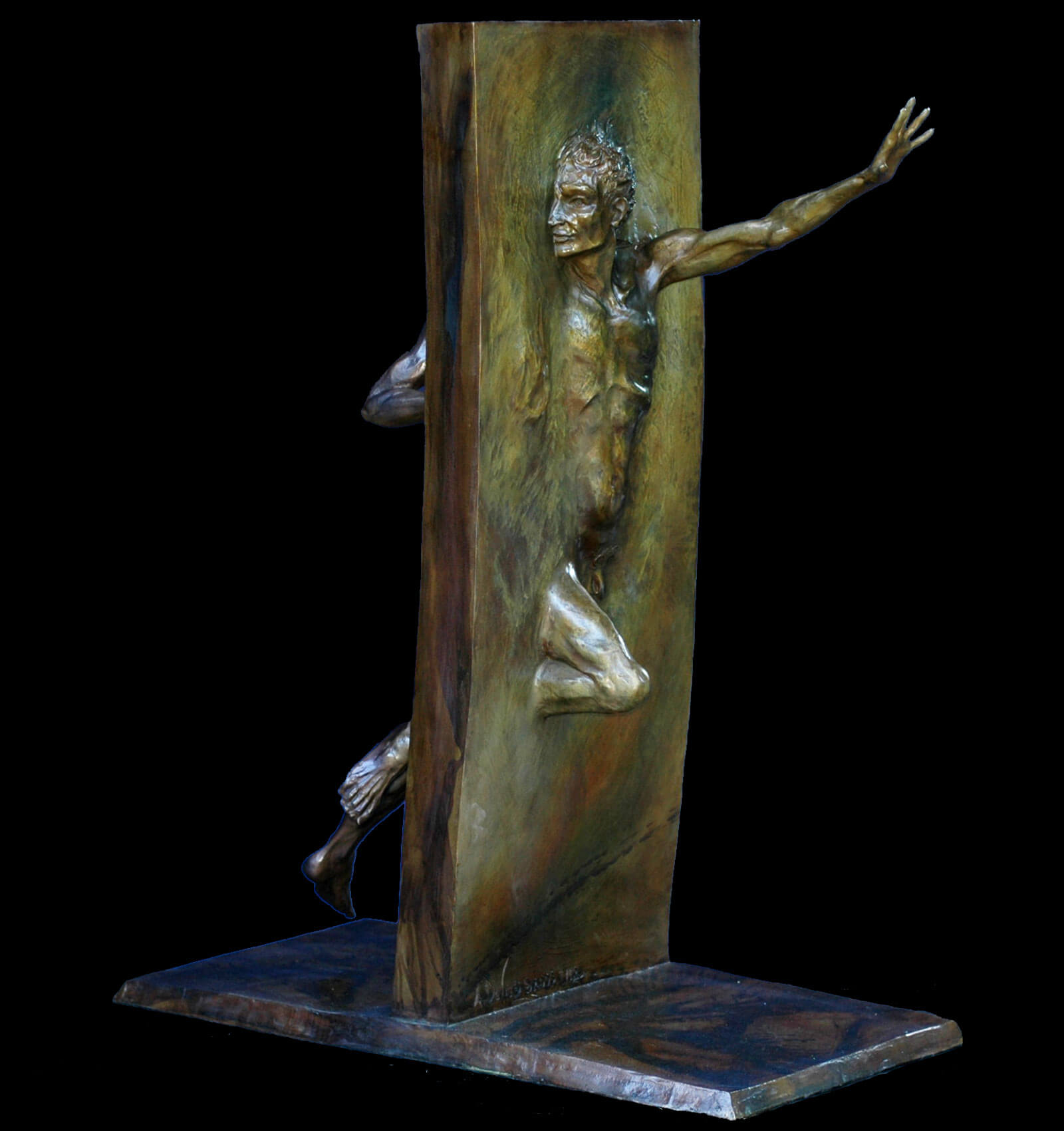 Other Side of Eden is a is figurative bronze sculpture by Andrew DeVries the edition is closed.