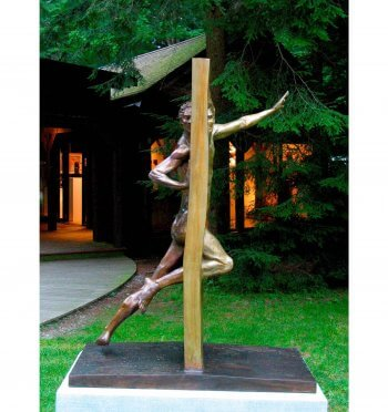 Other Side of Eden (5 foot version) is a figurative bronze sculpture by Andrew DeVries.
