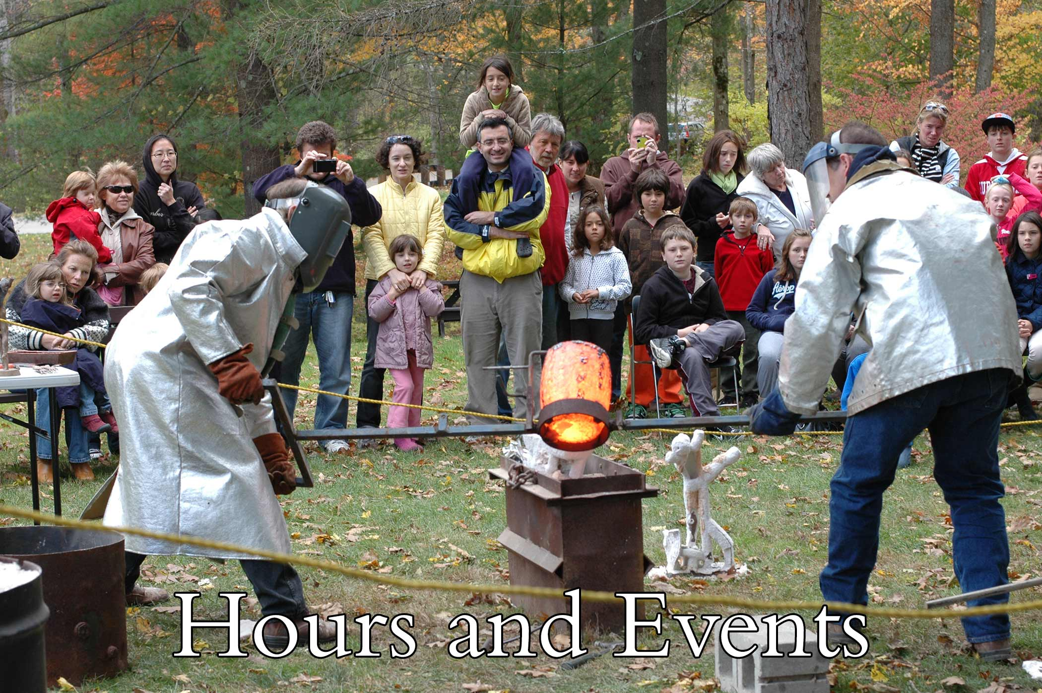 Bronze casting demonstration by sculptor Andrew DeVries at the Clark Art Institute in 2010.