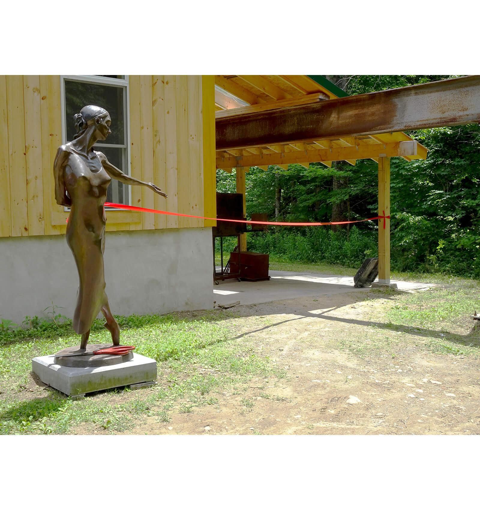 Nocturne, a lifesize bronze dance sculpture by Andrew DeVries, copyright 1998.