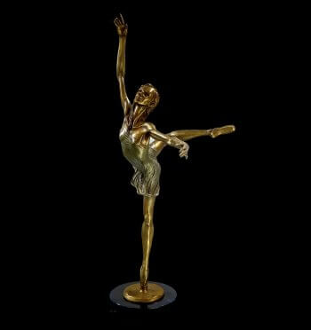 Starlight is a medium size bronze dance sculpture by Andrew DeVries copyright 2018
