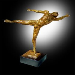 Within is a bronze male medium dance sculpture by Andrew DeVries