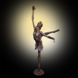 Starlight is a lifesize bronze ballet dancer by Andrew DeVries. commissioned by Pittsburgh Ballet Theatre. Cast and finished by the artist. Copyright 2019