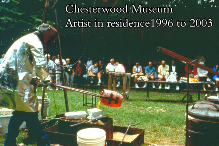 One of the casting demonstrations at Chesterwood Museum during his residences from 1996 to 2003.
