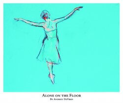 A signed and numbered giclee print of a ballet dancer by Andrew DeVries copyright 2021. Edition of 25